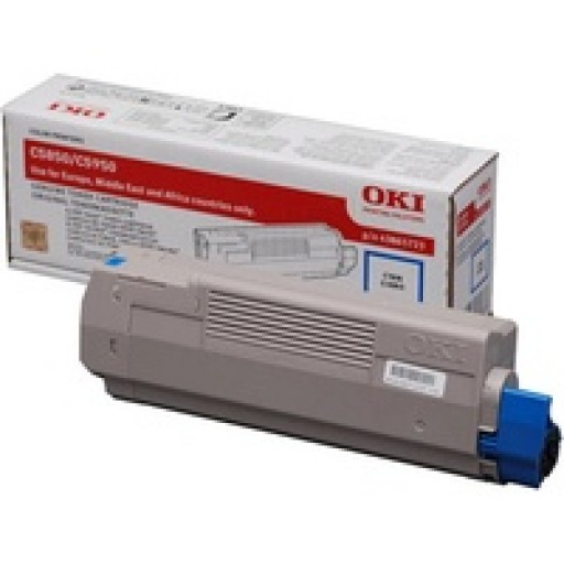OKI, 43865731, Toner Cartridge Cyan, Es2032, ES2232, ES2632, ES5460- Original