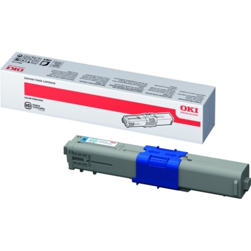 OKI 44469706, Toner Cartridge Cyan, C510, C511, C530, C531- Genuine