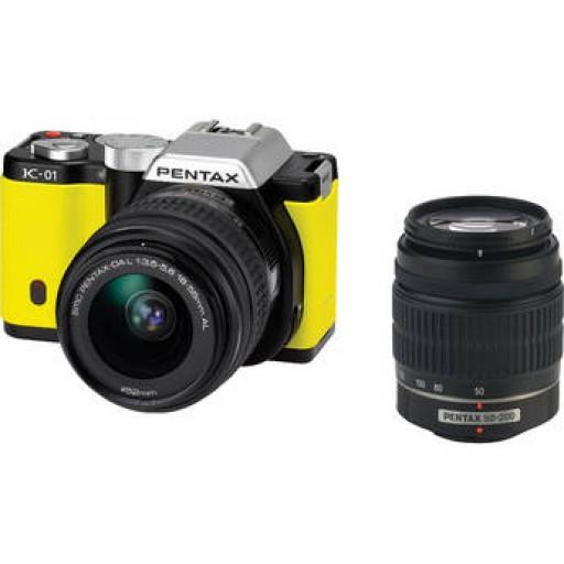 Pentax Imaging K-01 Yellow Single Kit Camera + 18+55mm Lens