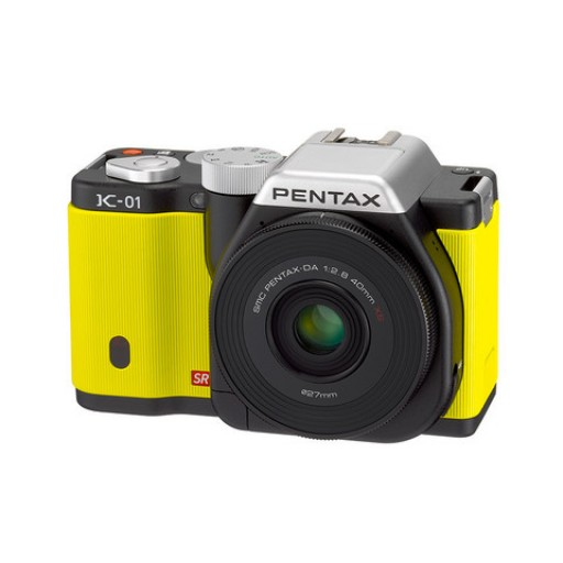 Pentax Imaging K-01 Yellow Single Kit Camera + 40mm Lens