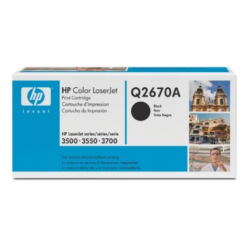 HP Q2670A, Toner Cartridge- Black, Color LaserJet 3500, 3550, 3700- Original