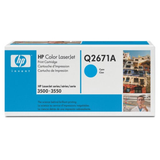 HP Q2671A, Toner Cartridge Cyan, Color LaserJet 3500, 3550, 3700- Original