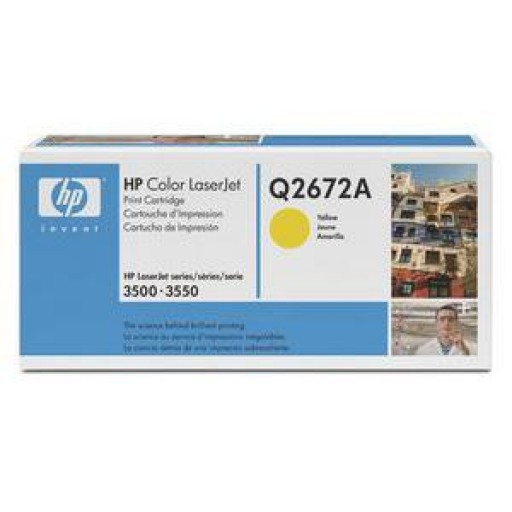 HP Q2672A, Toner Cartridge Yellow, Color LaserJet 3500, 3550, 3700- Original