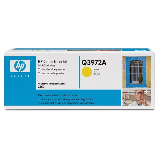 HP Q3972A, Toner Cartridge- Light user Yellow, 2500, 2800, 2820, 2840- Original