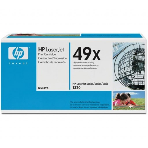 HP Q5949X, Toner Cartridge- HC Black, 1160, 1320, 3390, 3392- Original
