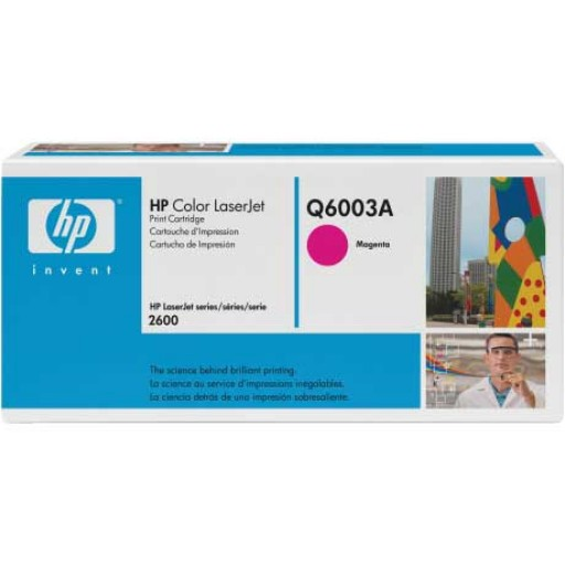 HP Q6003A, Toner Cartridge- Magenta, 1600, 2600, 2605, CM1015, CM1017- Genuine