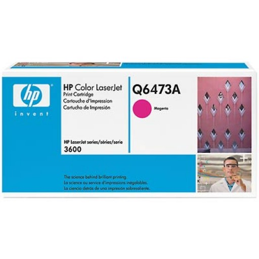 HP Q6473A, Toner Cartridge- Magenta, 3600, 3800, CP3505- Original
