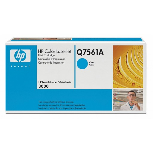 HP Q7561A, Toner Cartridge- Cyan, 2700, 3000- Original