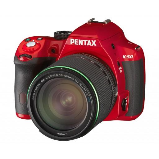 Pentax, K-50, Digital SLR Camera- Red