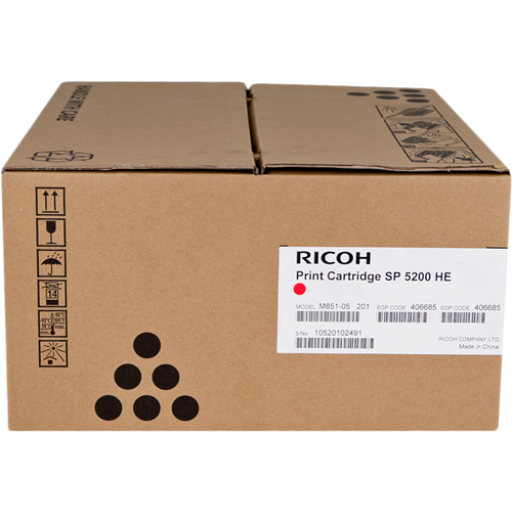Ricoh 406685, Toner Cartridge Black, SP 5200DN, SP 5210DN- Original