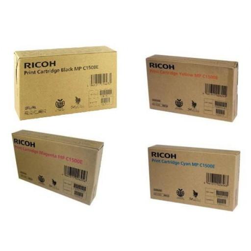 Ricoh 888547, 888548, 888549, 888550, Toner Cartridge Value Pack, MP C1500- Original