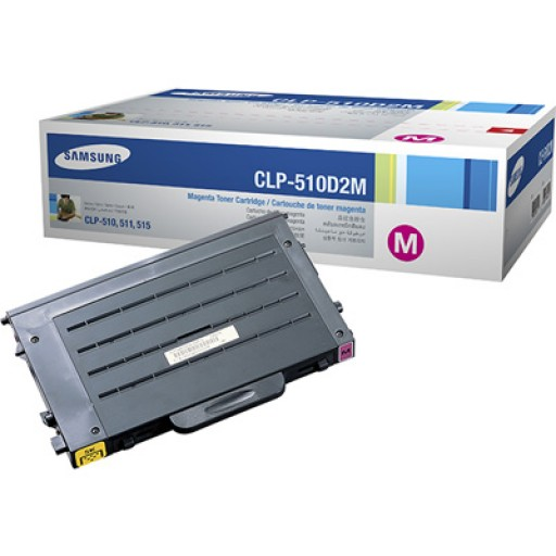 Samsung CLP-510D2M Toner Cartridge, CLP-510 - Magenta Genuine