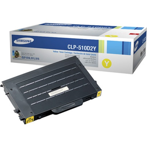 Samsung CLP-510D2Y Toner Cartridge, CLP-510 - Yellow Genuine