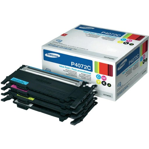Samsung CLT-P4072C Toner Cartridge, CLP 320, 325, CLX 3180, 3185 - 4 Colour Multipack Genuine