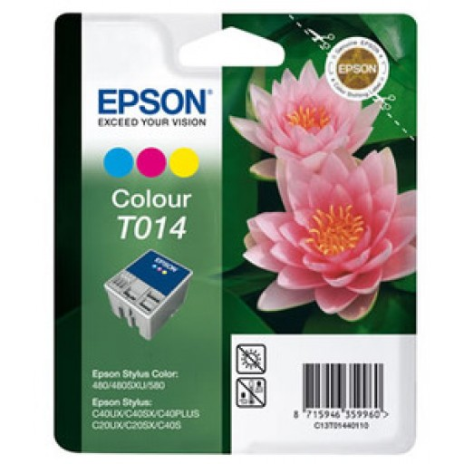 Epson T014 Ink Cartridge - Tri-Colour Genuine