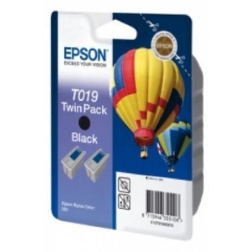 Epson T019 Ink Cartridge - Black Multipack Genuine