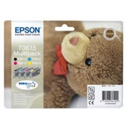 Epson T0615 Ink Cartridge - 4 Colour Multipack Genuine