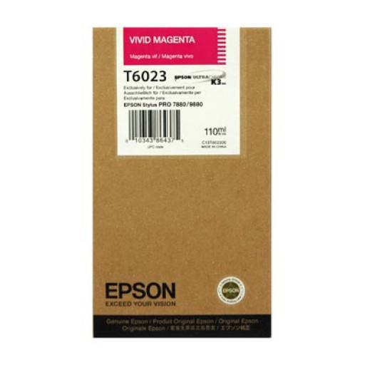 Epson T6023 Ink Cartridge - Vivid Magenta Genuine