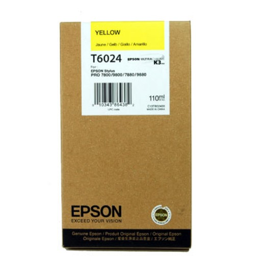 Epson T6024 Ink Cartridge - Yellow Genuine