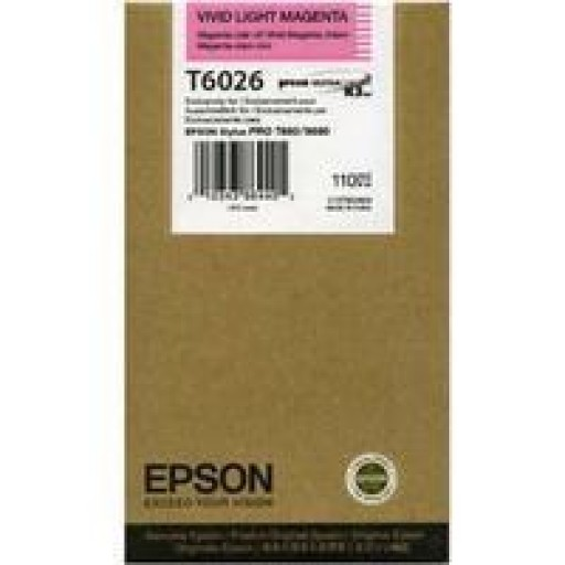 Epson T6026 Ink Cartridge - Vivid Light Magenta Genuine