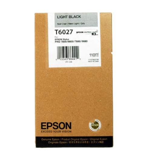 Epson T6027 Ink Cartridge - Light Black Genuine