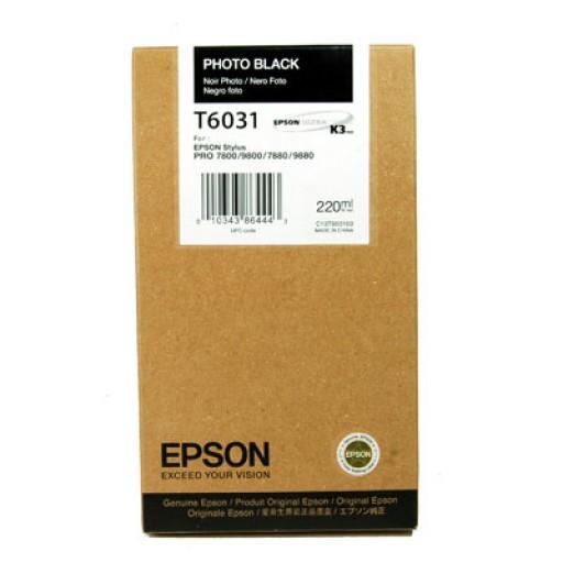 Epson T6031 Ink Cartridge - HC Photo Black Genuine