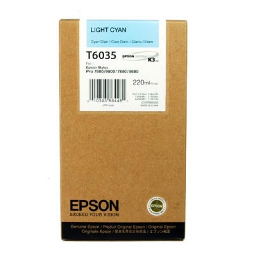 Epson T6035, Ink Cartridge HC Light Cyan, Stylus Pro 7800, 7880, 9800, 9880- Original