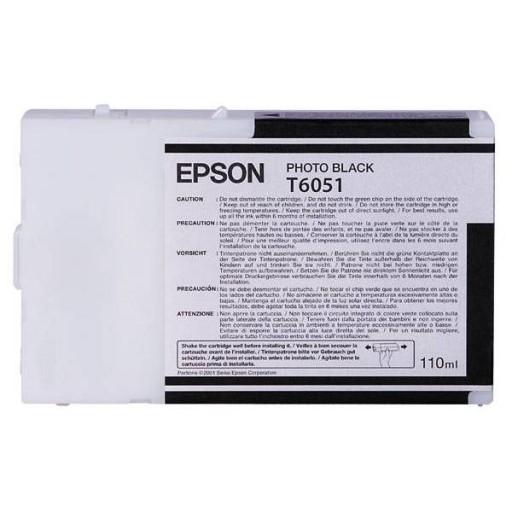 Epson T6051, C13T605100 Ink Cartridge, 4800, 4880 - Photo Black Genuine
