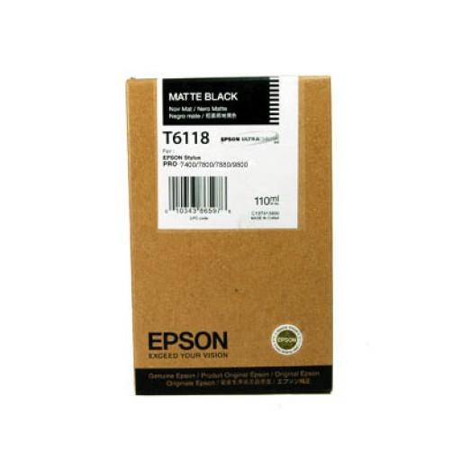 Epson T6118 Ink Cartridge - Matte Black Genuine