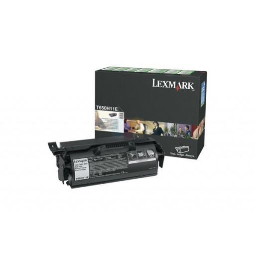 Lexmark T650H11E, High Capacity Return Program Toner Cartridge- Black, T650, T652- Genuine