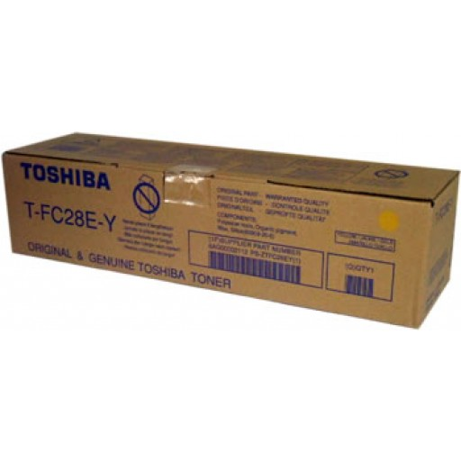 Toshiba T-FC28E-Y, E-Studio 2330C, 2820C, 2830C, 3520C, 3530C, 4520C Toner Cartridge - Yellow Genuine