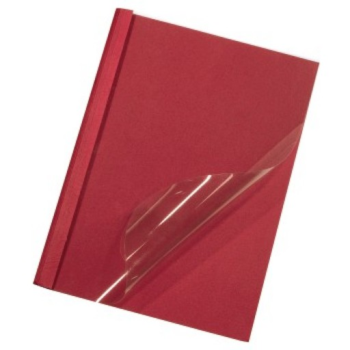 Thermal Binding Covers, Front PVC Clear Back Gloss A4 Red 3mm