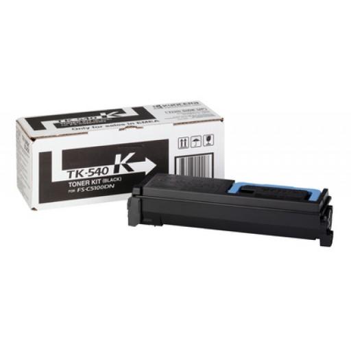 Kyocera Mita TK540K, Toner Cartridge- Black, FSC5100DN- Genuine
