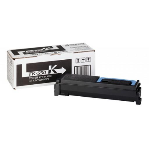 Kyocera Mita TK-550K, Toner Cartridge- Black, FS-C5200DN- Genuine
