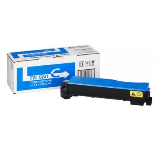 Kyocera Mita TK-560C, Toner Cartridge- Cyan, FS-C5300DN, C5350DN- Genuine