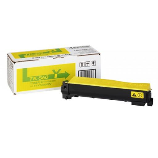 Kyocera Mita TK-560Y, Toner Cartridge- Yellow, FS-C5300DN, C5350DN- Genuine