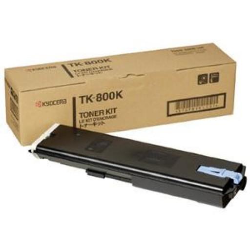 Kyocera Mita TK-800K, Toner Cartridge- Black, FS C8008N- Genuine