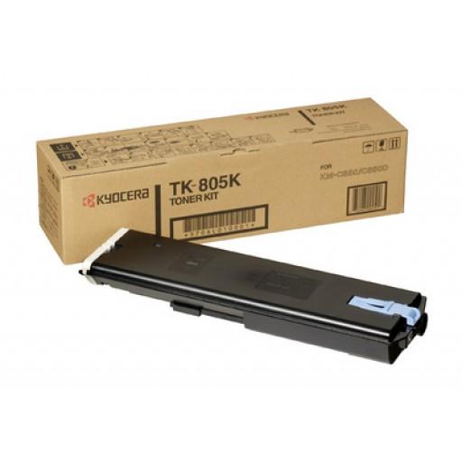 Kyocera Mita TK-805K, Toner Cartridge- Black, KM C850- Genuine