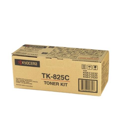 Kyocera Mita TK-825C, Toner Cartridge- Cyan, KM C2520, C3225- Genuine