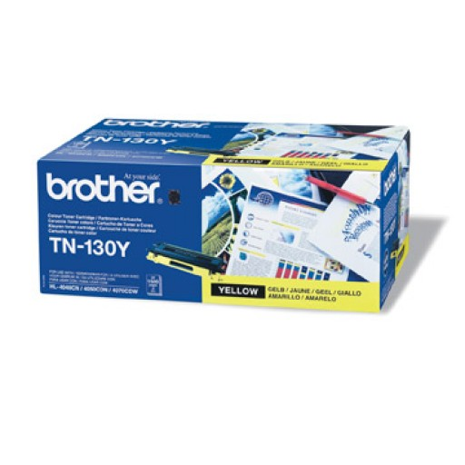 Brother TN130Y, Toner Cartridge- Yellow, DCP9040, 9042, HL4040, 4050, MFC9440, 9450- Genuine