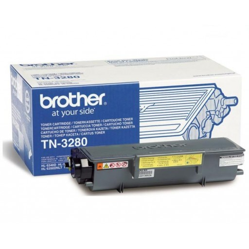 Brother TN3280, Toner cartridge Black, DCP8070, 8085, HL5340, 5350, 5370, MFC8370- Genuine