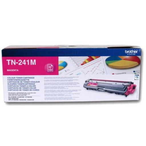 Brother TN241M, Toner Cartridge- Magenta, HL3140, MFC9140, MFC-9330CDW- Genuine