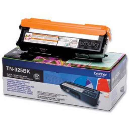 Brother TN325BK, Toner Cartridge- HC Black, DCP9055, 9270, HL4140, MFC9460- Genuine
