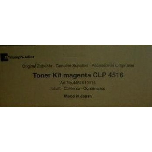 Triumph-Adler CLP4516 Toner Cartridge - Magenta Genuine (4451610114)