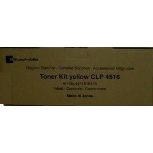 Triumph-Adler CLP4516 Toner Cartridge - Yellow Genuine (4451610116)