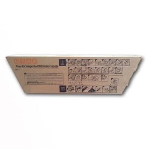 UTAX 652610011, Toner Cartridge- Cyan, CDC 1526- Genuine