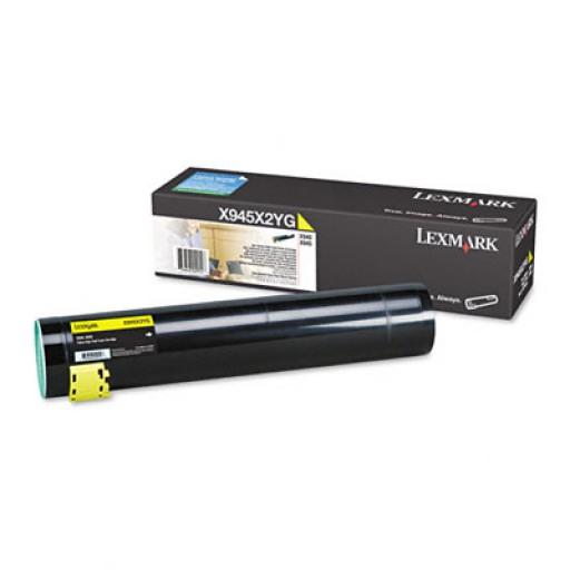 Lexmark X945X2YG, Toner Cartridge- HC Yellow, X940e, X945e- Original