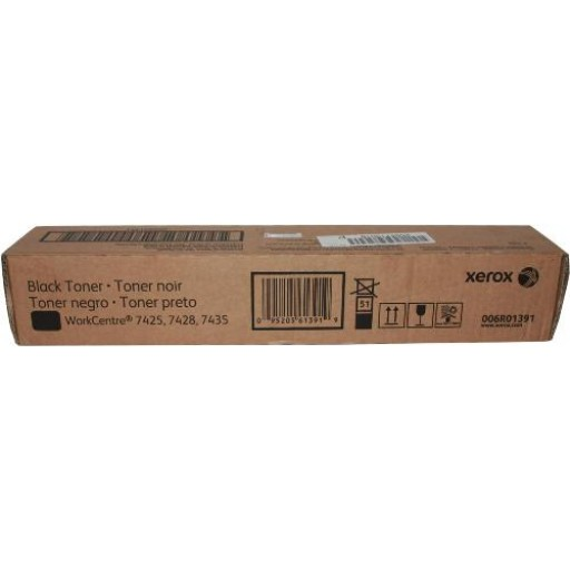Xerox 006R01391, Toner Cartridge Black, WorkCentre 7425, 7428, 7435- Original