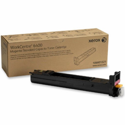 Xerox 106R01321 Toner Cartridge, WorkCentre 6400 - Magenta Genuine