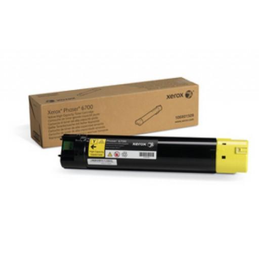 Xerox 106R01509, Toner Cartridge HC Yellow, Phaser 6700- Original